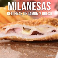 Suaves milanesas de res rellenas de jamón y queso manchego acompañadas de un aderezo pocosito de habanero. I Love Food, Good Food, Yummy Food, Mexican Food Recipes, Dessert Recipes, Duck Recipes, Tofu Recipes, Easy Recipes, No Cook Meals