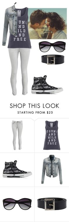 """""""Young, Wild And Free"""" by blue-sky-designer ❤ liked on Polyvore featuring D-ID, One Teaspoon, Converse, LE3NO, Vince Camuto and Dolce&Gabbana"""