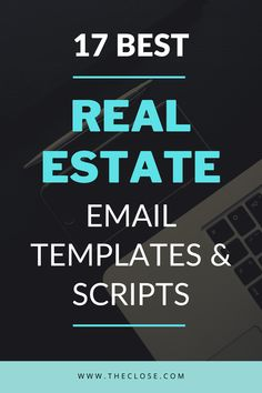 """Since so many leads, especially millennials, prefer to be contacted via email, writing effective real estate email templates will help you close more deals in The only problem is that, for… More "" Real Estate Business Plan, Real Estate Exam, Real Estate Quotes, Real Estate Leads, Real Estate Investor, Real Estate Tips, Commercial Real Estate, Best Real Estate Investments, Real Estate Advertising"