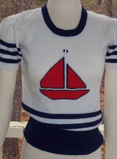 Vintage nautical sailor sweater