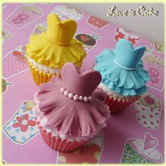 Disney Princess cupcakes - Disney Princess cupcakes made with slight adaptions from the fabulous ballerina tutorial from Lillys Cupcakes (she's on facebook if you'd like to try it too).