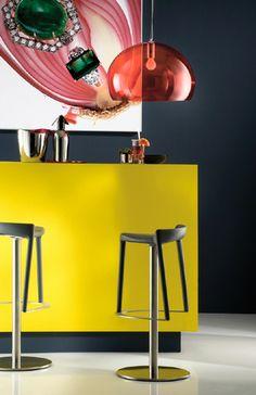 HAPPY stool by Pedrali #Tdtesta #Pedrali