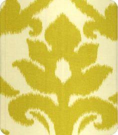 Azzuro Yellow Ikat Fabric - Emily A. Clark breakfast room fabric