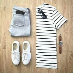 Outfit grid - Classic stripes