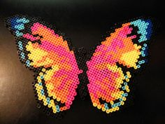 Multicolored butterfly perler beads by Sara Swope