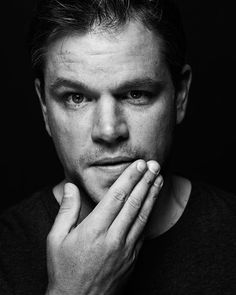 Matt Damon, por Nigel Parry