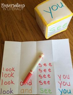 It, Play It, Learn It Sight Word Fun- easy prep sight word activities!Make It, Play It, Learn It Sight Word Fun- easy prep sight word activities! Teaching Sight Words, Sight Word Practice, Sight Word Activities, Spelling Activities, Vocabulary Games, Listening Activities, Vocabulary Strategies, Kindergarten Sight Words, Second Grade Sight Words