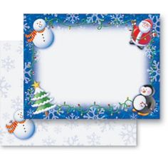 Winter PostCards & Christmas PostCards - Whimsical Wonderland Christmas PostCards by PaperDirect   #HolidayPartyPlanning