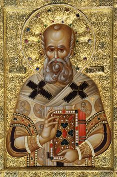 Saint Nephon, Patriarch of Constantinople Jesus Christ Images, Orthodox Christianity, Orthodox Icons, Byzantine, Medieval, Saints, Religion, Statue, Pictures