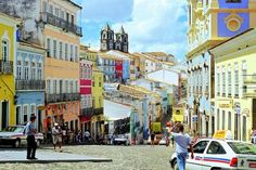 """Pelourinho, Salvador, Brazil. """"The old and colourful houses are really amazing! Lots of stores, restaurants and galleries."""""""