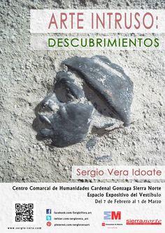 Exposición Descubrimientos. Centro de Humanidades de La Cabrera, Madrid. Del 7 de Febrero al 1 de Marzo de 2015. Esculturas en piedra, bronce y cerámica