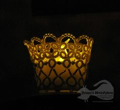 Tatted mini lamp - candle shade <Delight>