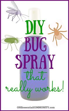 DIY Bug Spray that works! {kid safe options