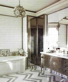 The Elegance Of Art Deco Bathroom