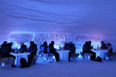 Restaurant in icecastle in Lapland - #travel #winteriscoming #photo by Visit Finland