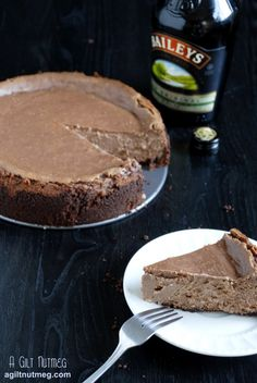 chocolate baileys irish cream cheesecake - needs to be tweaked to Primal...