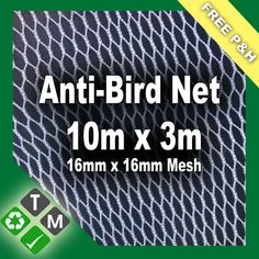 10m x 3m Commercial Grade Anti Bird Netting and Pond Netting Fruit Protection