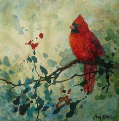 I love cardinals. Watercolor Bird, Watercolor Animals, Watercolor Paintings, Art Pictures, Art Images, Photos, Color Pictures, Bird Art, Belle Photo