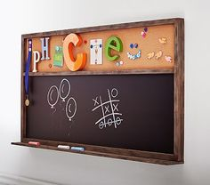 Jumbo Chalk & Cork Board #pbkids