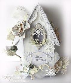 Christmas Birdhouse by Inger Harding