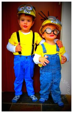 Do it yourself costume ideas kids pinterest halloween costumes easy cheap tutorial for a diy minion costume hard hats gru logo goggles and crazy hair great fancy dress outfit for a halloween party solutioingenieria Gallery