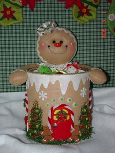 Felt Gingerbread Candy and Cookie Holder by simplysweetgifts
