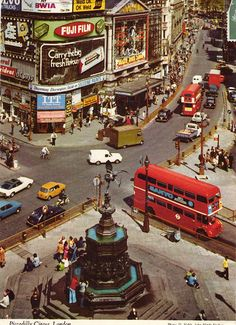 Piccadilly Circus, London, UK - Three sides of Piccadilly Circus are… Vintage London, Old London, London Landmarks, Piccadilly Circus, London History, London Calling, England Uk, Great Britain, Old Photos