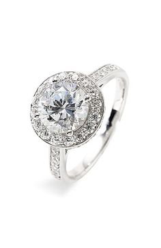 Nordstrom Round Cubic Zirconia Ring available at Nordstrom