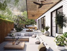 The Craft - Architectural & Interior Design Visualization - Lipski 12 - Interiors Patio Design, Exterior Design, Garden Design, House Design, Loft Design, Facade Design, Outdoor Living Rooms, Outdoor Spaces, Modern Outdoor Living