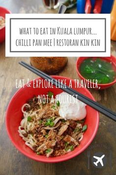 Looking for what to eat in Kuala Lumpur, Malaysia? Chilli Pan Mee is a Chinese/Malaysian noodle dish best tried at Restoran Kin Kin. Asia Travel, Travel Tips, Travel Ideas, Travel Destinations, Malaysia Travel Guide, Sibu, Best Dishes, Borneo, Kuala Lumpur