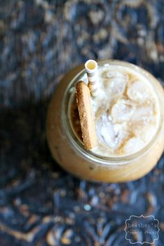 Biscoff Iced Lattee made with cold-brewed coffee