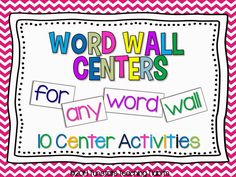 Word Wall Centers For Any Word Wall! no prep word wall activities, print and go centers, sight words Kindergarten Reading, Teaching Reading, Guided Reading, Teaching Ideas, Teaching Career, Early Reading, Kindergarten Classroom, Activity Centers, Literacy Centers