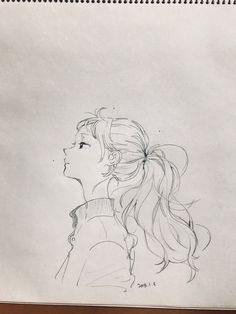 how to drawings Anime Drawings Sketches, Anime Sketch, Cute Drawings, Pencil Art Drawings, Realistic Drawings, Pretty Art, Cute Art, Cartoon Kunst, Beauty Illustration