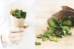 Oven Baked Spinach Chips