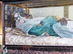 The body of Saint Zita, found to be incorrupt by the Catholic Church