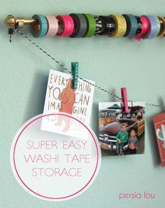 Easy Washi Tape Storage by Persia Lou