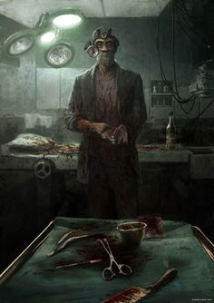 The doctor will see you now...  art by Geoffroy Thoorens www.djahalland.com