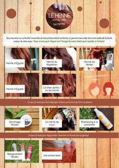 Accès depuis le mobile Henné d'Egypte - Henné du Rajasthan - Henné du Yémen Henné d'Egypte - Le bilan après 1 an de henné Gommag... Henna Hair, Coloring Tips, Make Beauty, New Girl, Ayurveda, Red Hair, 1 An, Natural Beauty, Hair Color