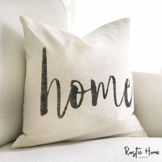 Home | Rustic Pillow Cover | Farmhouse Pillow | Modern Pillow Cover | Choose Your Size | Made To Ord
