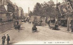 rue de Lyon - Paris 12ème - La rue de Lyon en direction de la place de la Bastille, vers 1900. Encore un air de campagne...