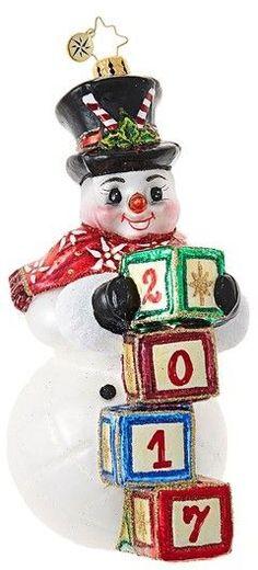 Christopher Radko Right On Time Snowman Ornament