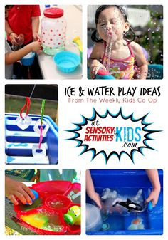 Ice and Water Sensory Play + The Weekly Kids Co-Op Link Party at SensoryActivitiesforKids
