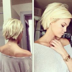 I think i want thus hair whaddaureckon? Short Blond Bob Hairstyle