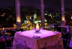 Restaurant UFO - view to all city Bratislava, Slovakia Sofia Bulgaria, Ufo, Restaurant Hotel, Bratislava Slovakia, Best Dining, Places To Eat, Old Town, Four Square, Night Life
