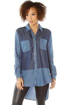 The Denim Block Shirt in Blue by *LA Boutique
