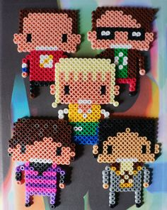 Big Bang Theory Hama beads magnets   by Alabauhaus