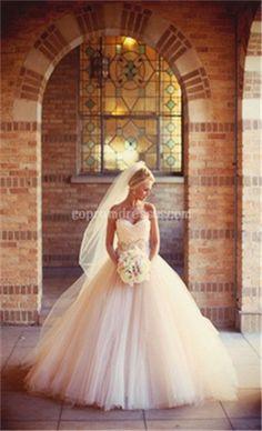 I've always dreamed of having a big princess wedding dress