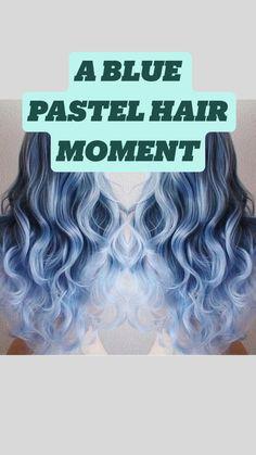 Vivid Hair Color, Vibrant Hair Colors, Green Hair Colors, Hair Dye Colors, Hair Color For Black Hair, Cool Hair Color, Dark Hair, Brown Hair, Pastel Blue Hair