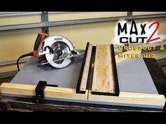 Making Circular Saw Crosscut & Miter Jig The MAX CUT 2 | Limited Tools Episode 003 - YouTube