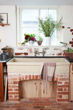 Very different- a brick sink cabinet.